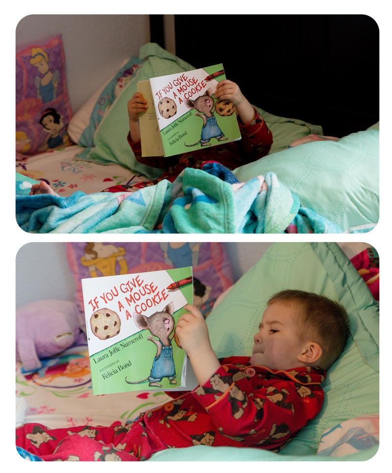 Reading in Abby's Bed