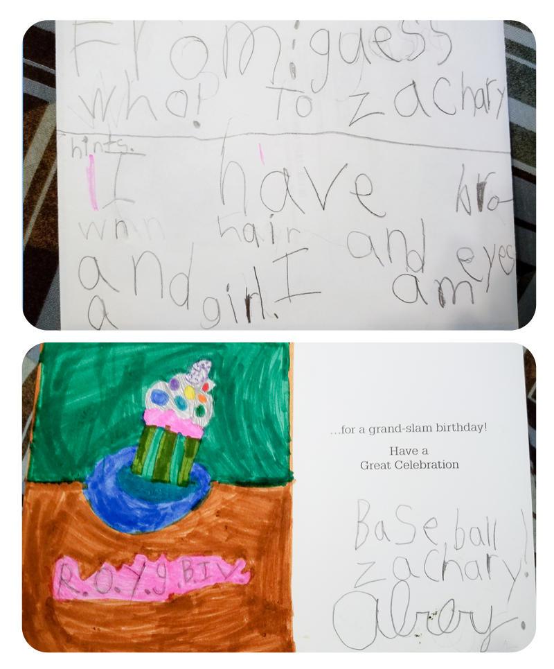 Birthday Card for Zachary