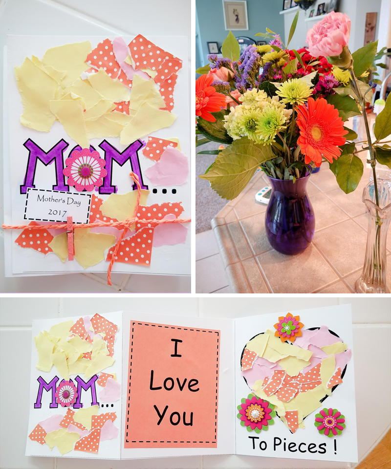 Mother's Day Card & Flowers