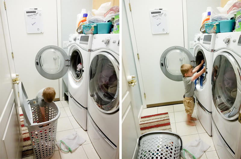 Helping with his Laundry