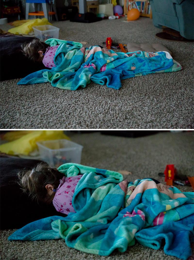 Asleep on the Living Room Floor