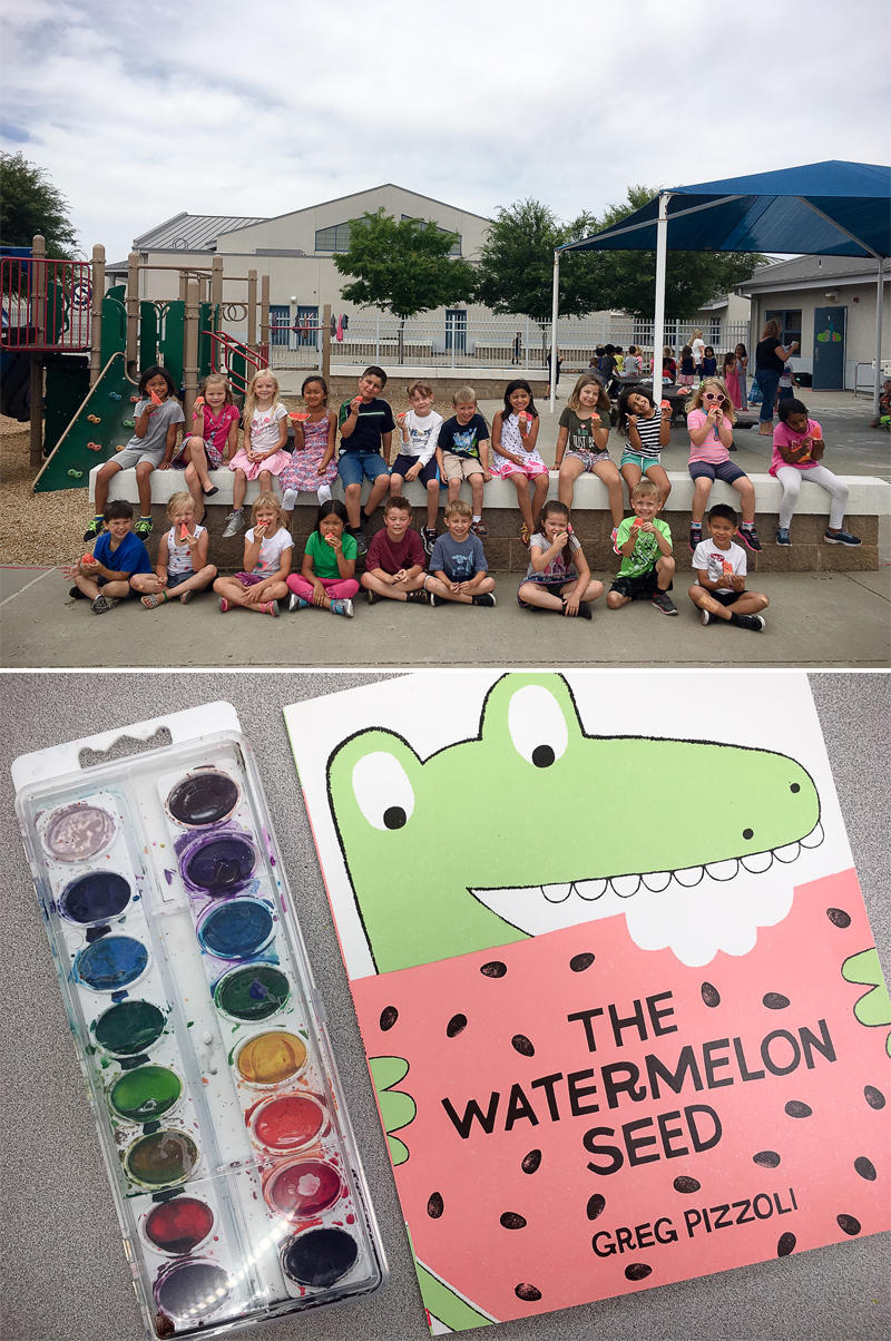 W for Watermelon and Watercolors