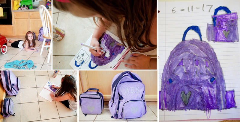 Drawing her Backpack