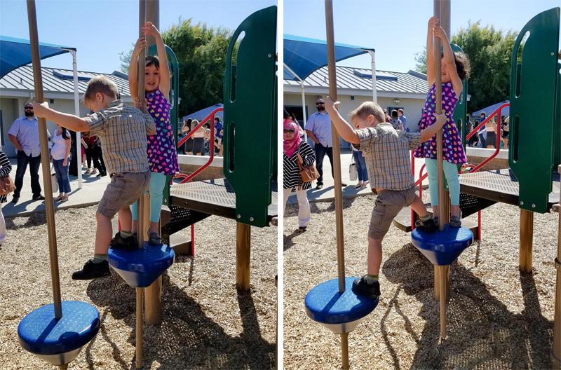 Luke on the Kinder Playground