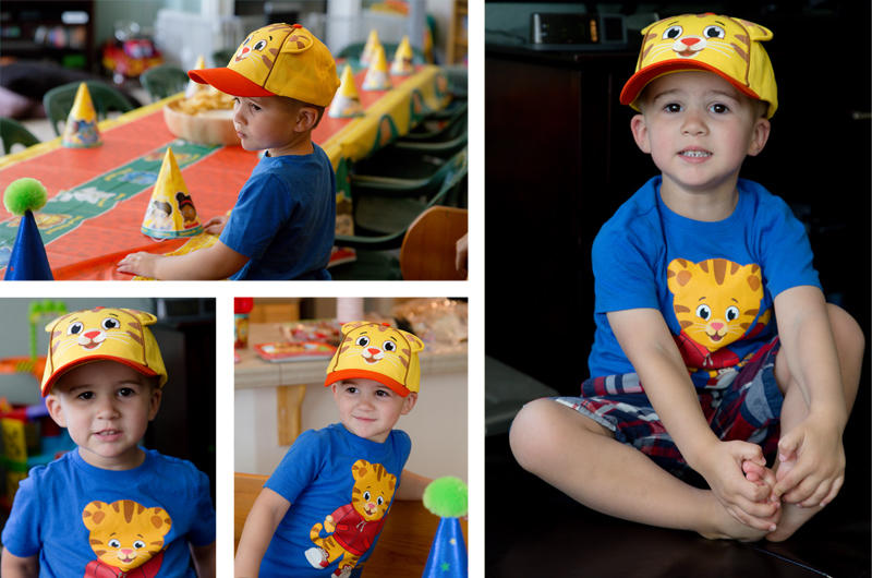 Ready for his Daniel Tiger Party