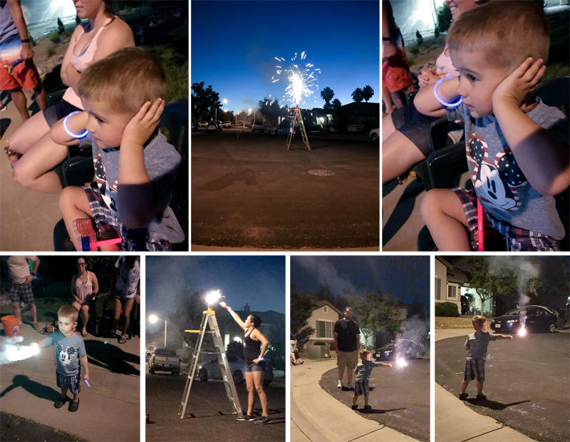 Luke's First 4th of July Fireworks 2017