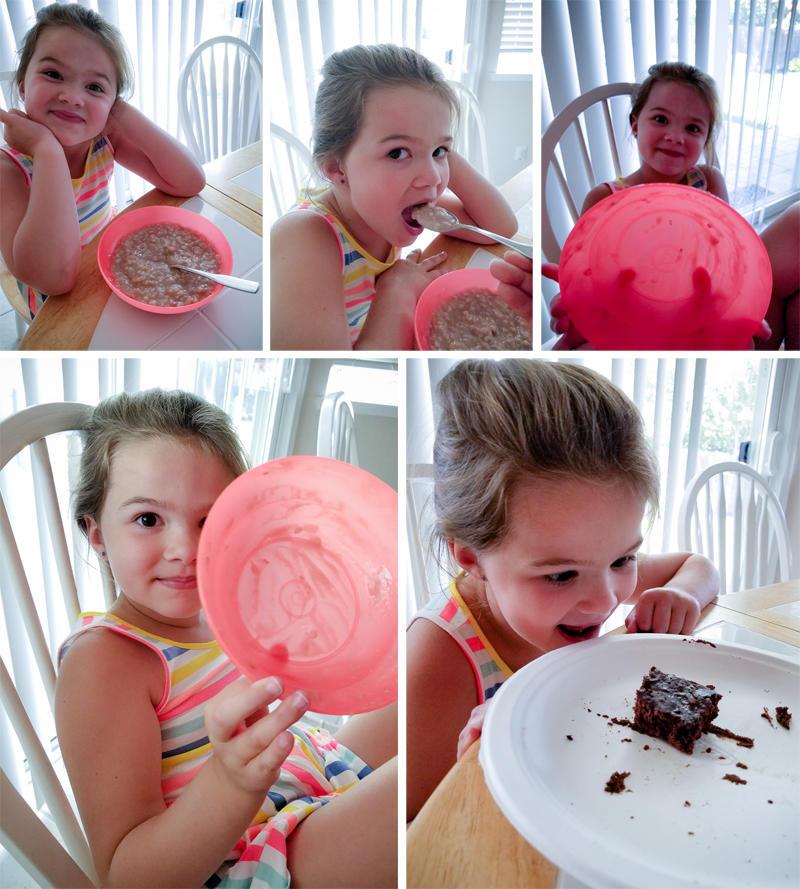 Oatmeal and Brownie Reward