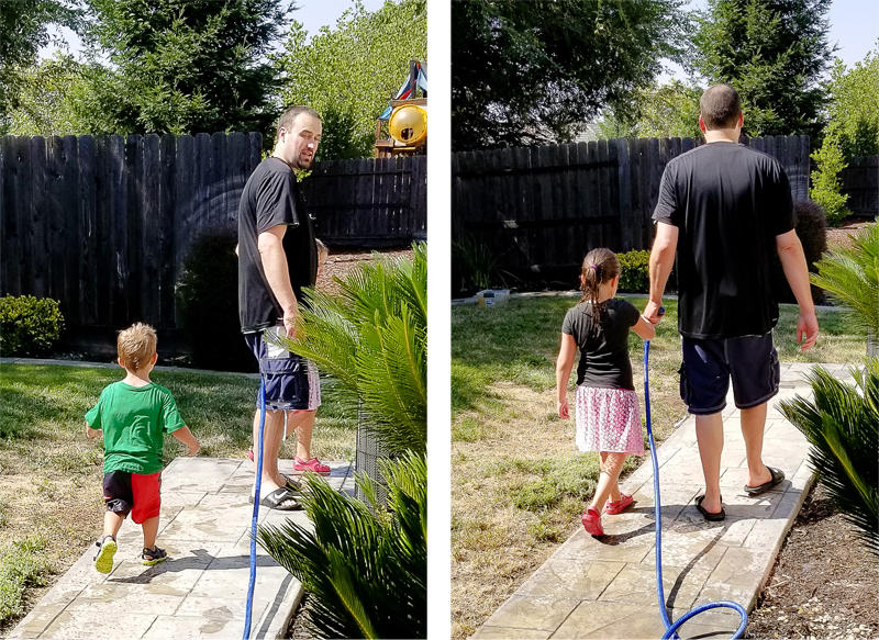 Water Play with Daddy