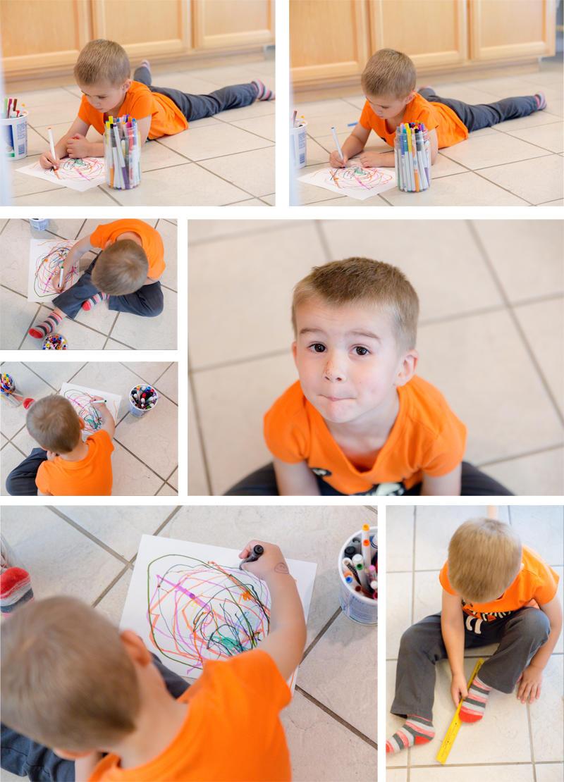 Luke's Floor Art Time