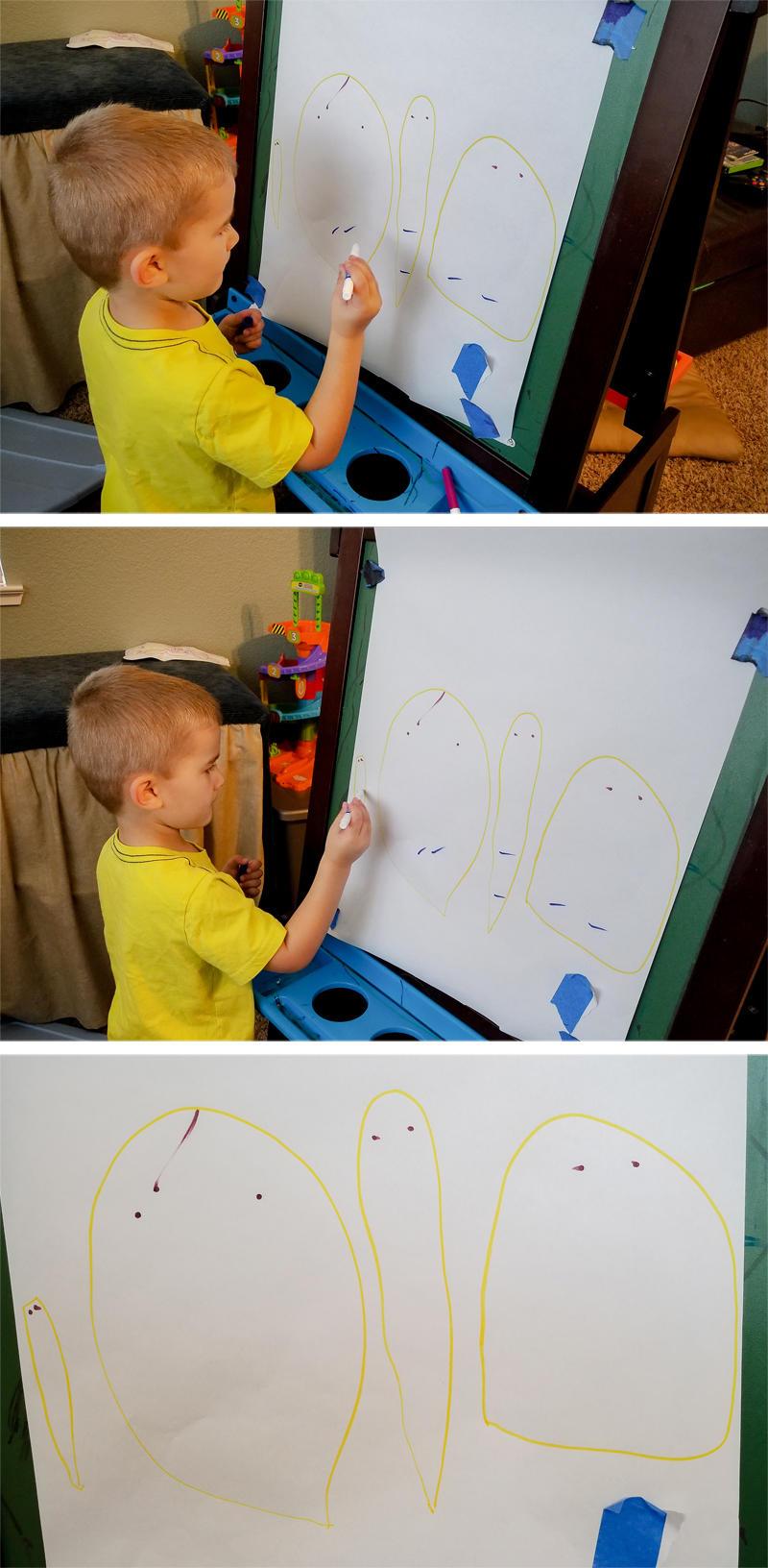 Luke's First Family Portrait