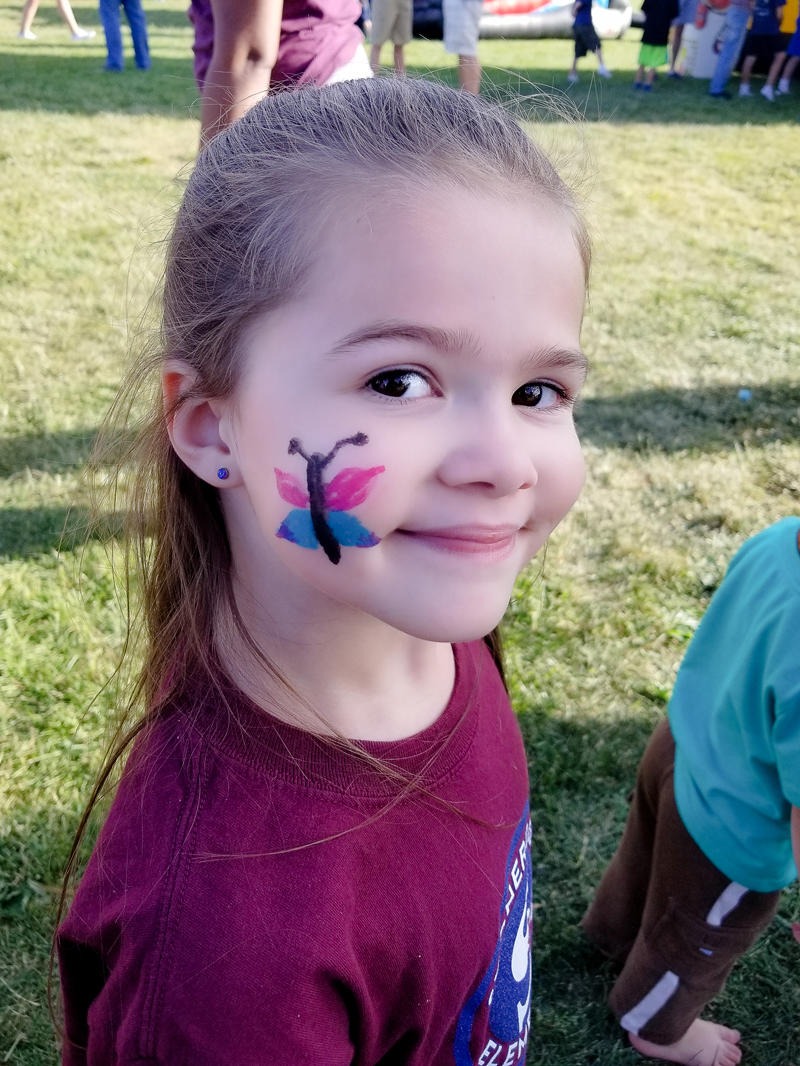 Facepaint at the Spring Carnival