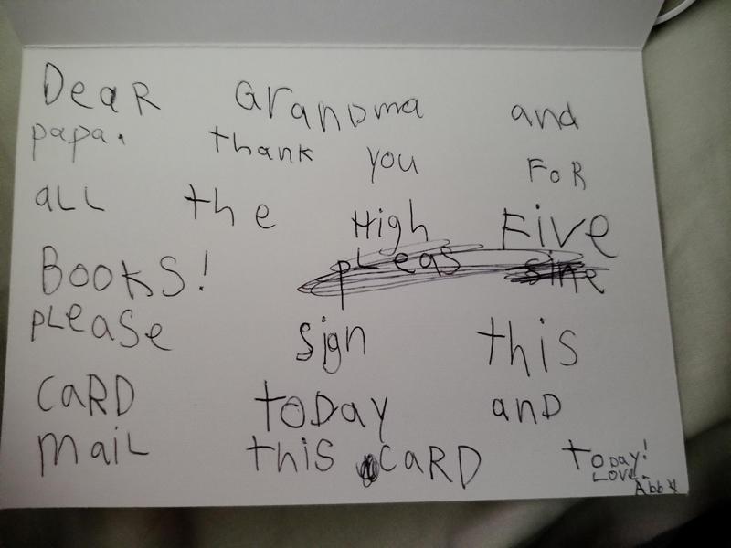 Note to Grandma Dana