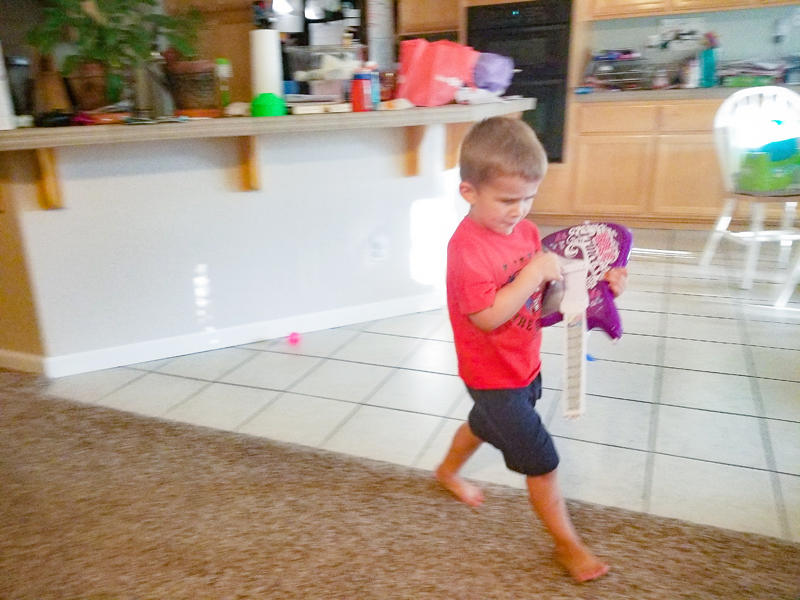 Luke Rocking Out