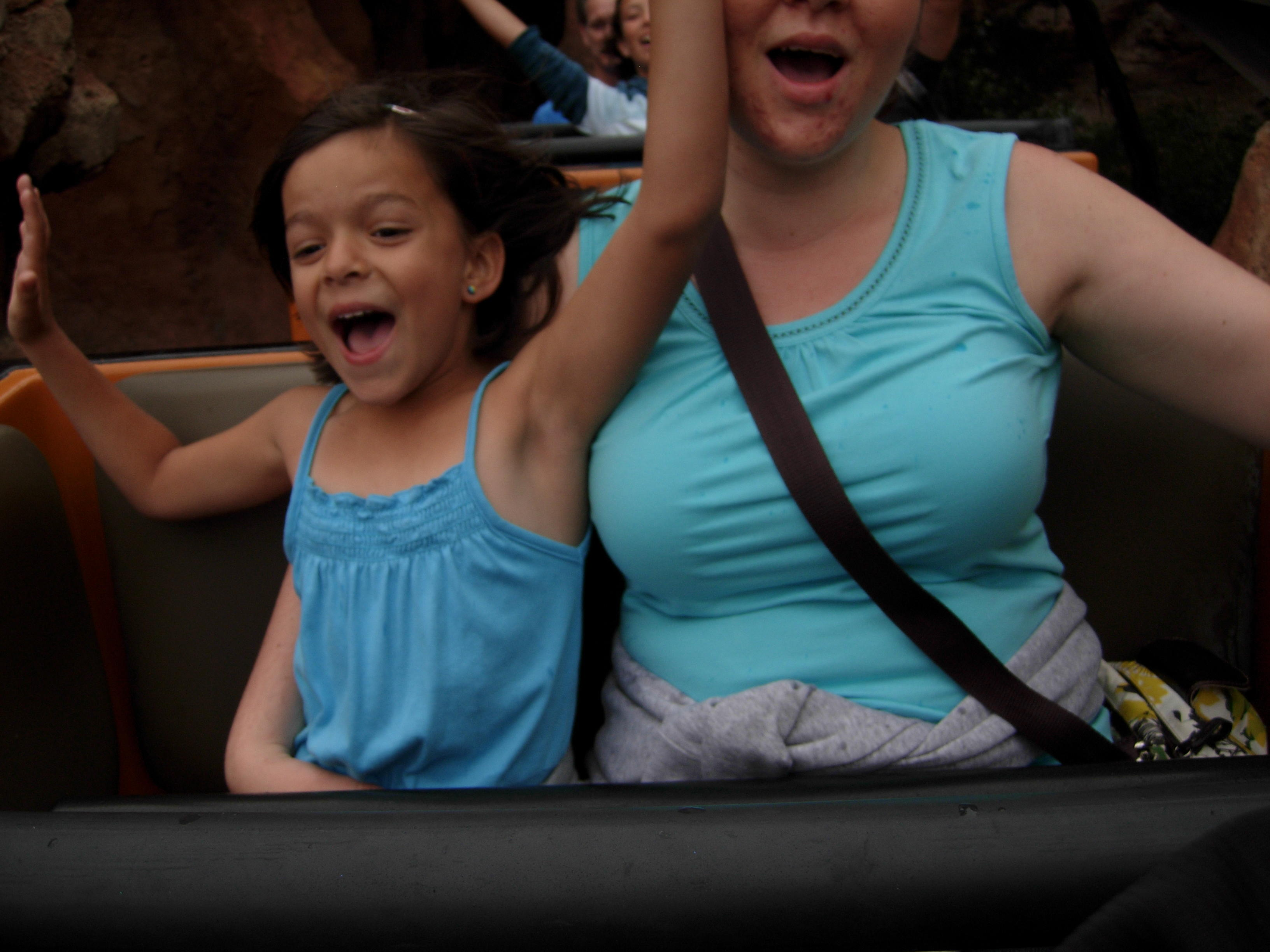 Melody and Brooke on Thunder Mountain Railroad